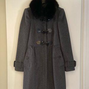 Burberry Coat Fox Collar Wool